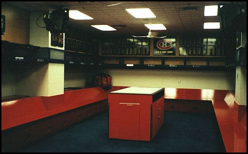 Montreal Canadiens Dressing Room